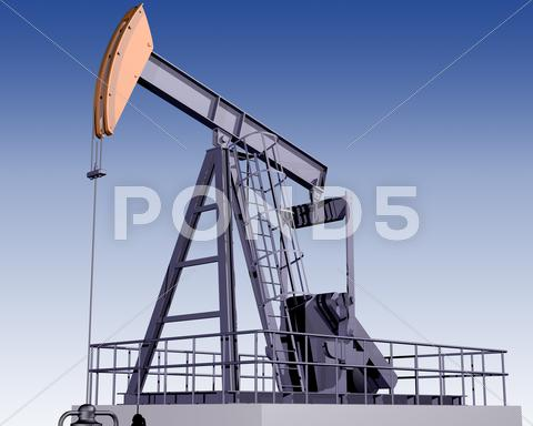 Stock Illustration of oil rig