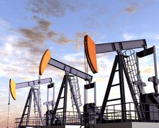 oil field - stock illustration