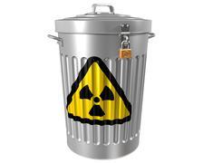 radioactive waste - stock illustration