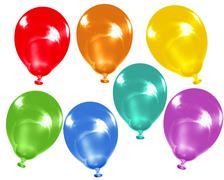 Rainbow colour balloons Stock Illustration