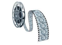Isolated movie reel Stock Illustration