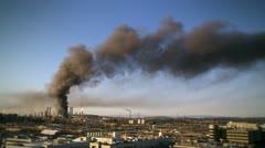 Oil refinery fire 13 HD Stock Footage