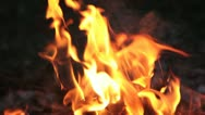 Rampant fire outside (HD) c Stock Footage