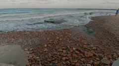 Beach of Rocks Time Lapse Stock Footage