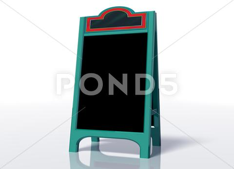 Stock Illustration of blank sandwich board