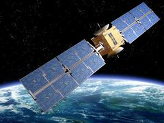 communication satellite - stock illustration