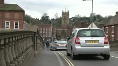Traffic Over Ornate Bridge Stock Footage