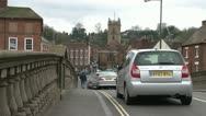 Traffic Over Ornate Bridge Stock Footage