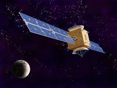 Satellite in space Stock Illustration