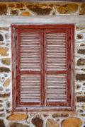 shuttered window - stock photo