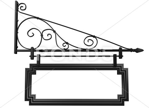 Stock Illustration of isolated blank shop sign