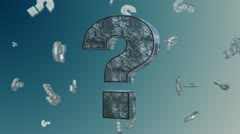 Question mark Stock Footage