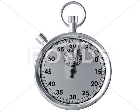 Stock Illustration of isolated stopwatch
