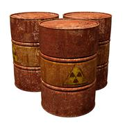 Toxic waste drums Stock Illustration