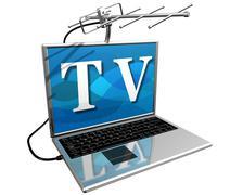 Tv on the internet Stock Illustration
