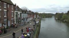 Bewdley Riverside Stock Footage