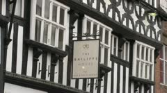 Tudor Style Pub & Restaurant Stock Footage