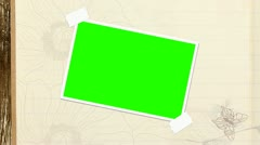 Photo Album With Butterfly & Green Screen - stock footage