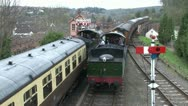 Steam Trains Passing Stock Footage