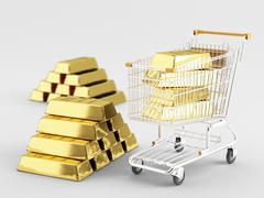 buy gold - stock illustration