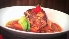 Hawaiian Style Fish Dinner Stock Footage