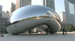 Chicago Cloud Gate - stock footage