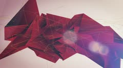 Red Origami Background Stock Footage