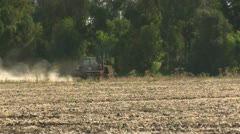Drought, farm tractor Stock Footage