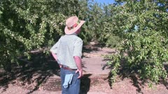 Farmer on the land, crop Stock Footage