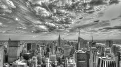 Stock Video Footage of New York City Timelapse in Black and White