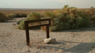 Stock Video Footage of Pet Cemetery Sign at Manzanar