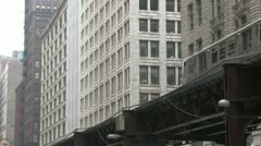 Stock Video Footage of Elevated Train in Chicago