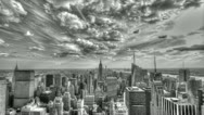 New York City Timelapse in Black and White Stock Footage