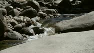 Water streaming in Yosemite National Park Stock Footage