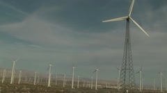 Palm Springs, CA Windmills - 3 - stock footage