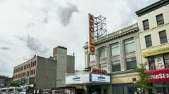 Apollo Theater in Harlem New York City - Timelapse NYC, USA Stock Footage