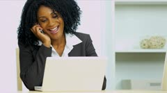 Female Home Business Consultant Good News - stock footage
