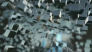 Fast Rotating 3D Cubes Stock Footage