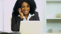Smart Ethnic Female Businesswoman Using Smart Phone Stock Footage