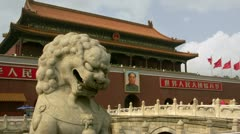 Timelapse Tiananmen Square Stock Footage