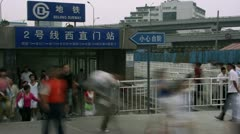 Timelapse Beijing Subway Stock Footage