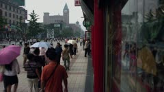 Timelapse Wangfujing Shopping District Stock Footage