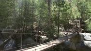 Suspension Bridge in Yosemite National Park Stock Footage