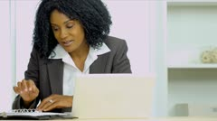 Ethnic Businesswoman Working From Home - stock footage