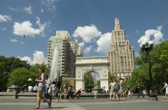 Washington Square Park Stock Footage