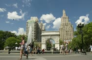 Stock Video Footage of Washington Square Park