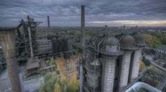 Industrial Park HDR dark Stock Footage