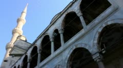 The Blue Mosque in Istanbul, Turkey Stock Footage