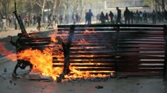 Protests in Chile Stock Footage
