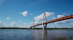Bridge over river Stock Footage